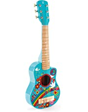 Hape Kid's Flower Power First Musical Guitar, Turquoise
