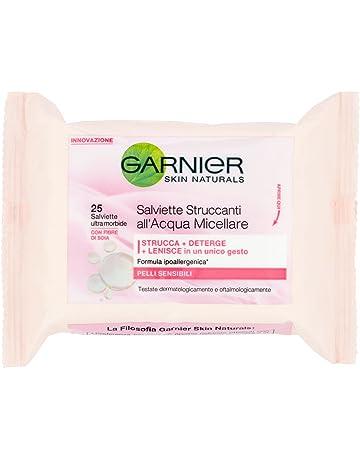 Toallitas desmaquillantes de agua micelar para pieles sensibles de Garnier