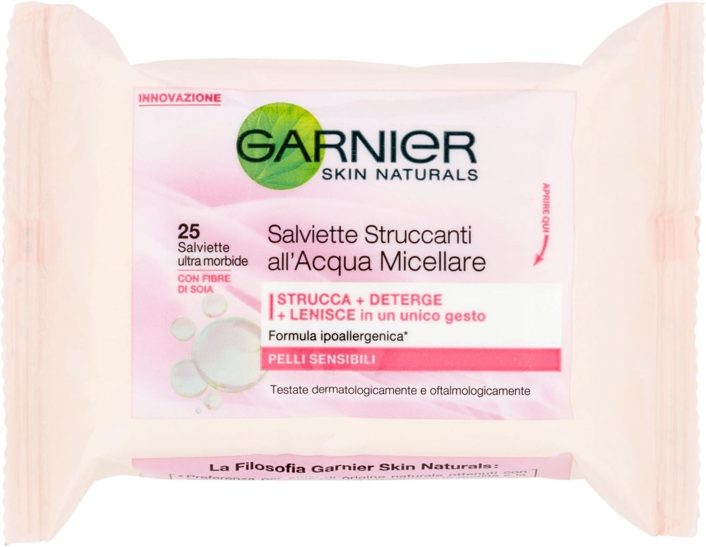 Toallitas desmaquillantes de agua micelar para pieles sensibles de ...