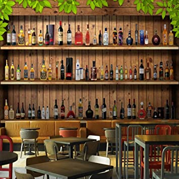 Amazon Com Ycry Wallpaper Simple 3d Wine Cabinet Wine Bottle Cafe Bar Wall Mural Wall Decoration Poster Picture Photo Hd Print Modern Decorative Murals 200x140cm Baby