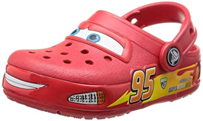 f53697ab12b crocs Boy's Lights Cars Red Rubber Clogs and Mules - C8: Buy Online ...