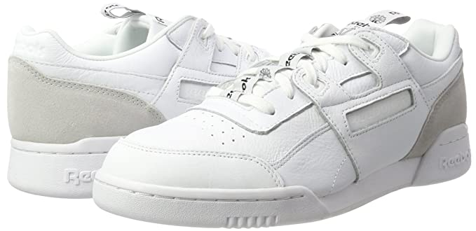 cc25949b9d6a Amazon.com  Reebok Workout Plus It Mens Sneakers White  Clothing
