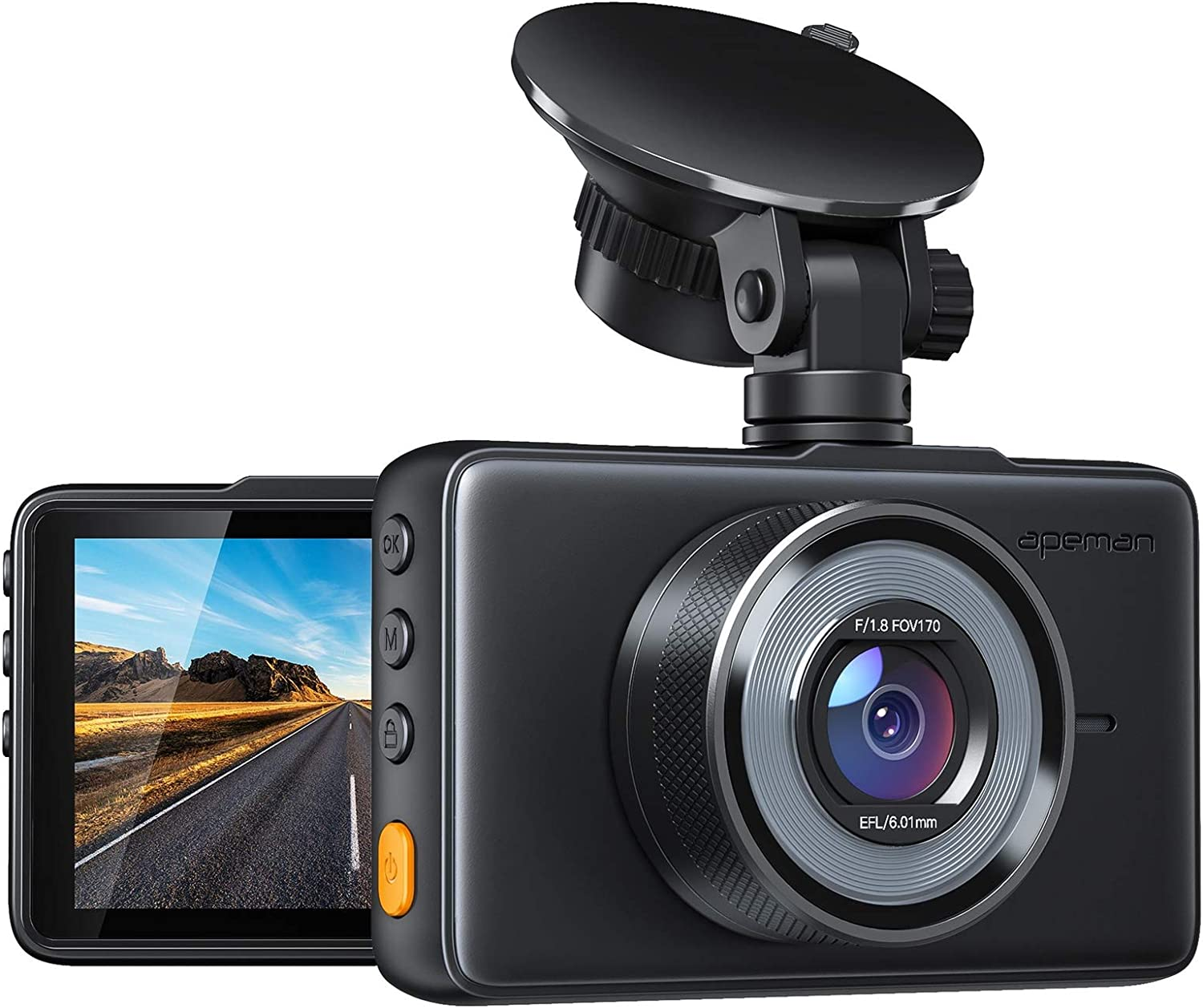 APEMAN Dash Cam 1080P FHD DVR Car Driving Recorder $44.99 & FREE Shipping