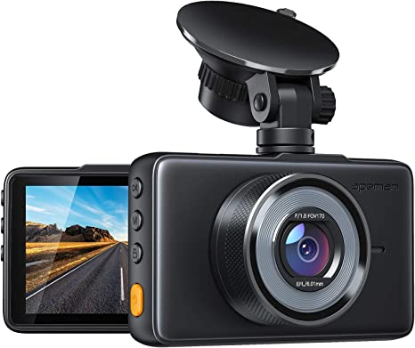 APEMAN Dash Cam 1080P FHD DVR Car Driving Recorder 3 Inch LCD Screen 170° Wide Angle
