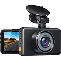 APEMAN Dash Cam 1080P FHD DVR Car Driving Recorder 3 Inch LCD Screen 170° Wide Angle, G-Sensor, WDR, Parking Monitor…