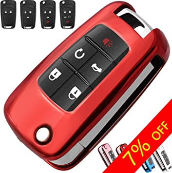 Red Soft Protective key Case Shell Cover for Chevrolet Chevy Cruze Sonic