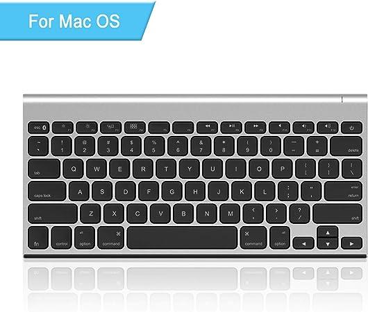 Teclado Bluetooth Recargable para Mac OS, Jelly Comb Ultra Compacto Mini Teclado inalámbrico Compatible para MacBook, MacBook Air, MacBook Pro, iMac y ...