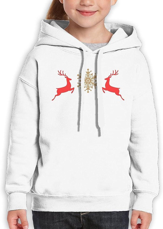 Starcleveland Teenager Pullover Hoodie Sweatshirt Deer Snowflake Teens Hooded Boys Girls