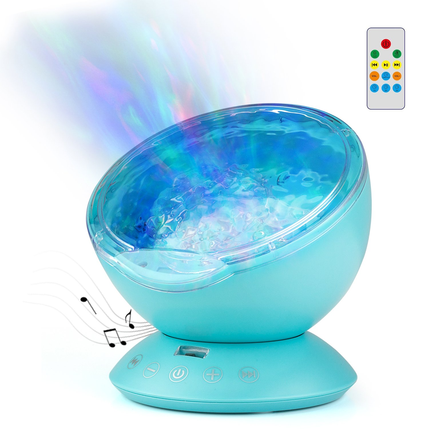 Goline Ocean Wave Projector, Baby Sound Machine Ocean Waves, 7 Year Old Girl Gifts, Projector Nightlight Kids, Remote Control Ocean Wave Projector Night Light, Birthday Gifts for Her/Women/Mom.