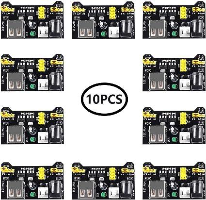 2PCS Mini USB MB102 Breadboard Power Supply Module 3.3V 5V F Solderless Arduino
