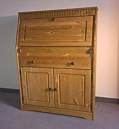 sekret r aus massiver kiefer gelaugt ge lt schreibtisch k che haushalt. Black Bedroom Furniture Sets. Home Design Ideas