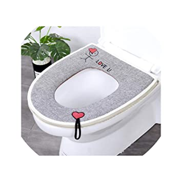 Amazing Amazon Com 2Pcs Toilet Seat Cover Linen Summer Overcoat Can Inzonedesignstudio Interior Chair Design Inzonedesignstudiocom