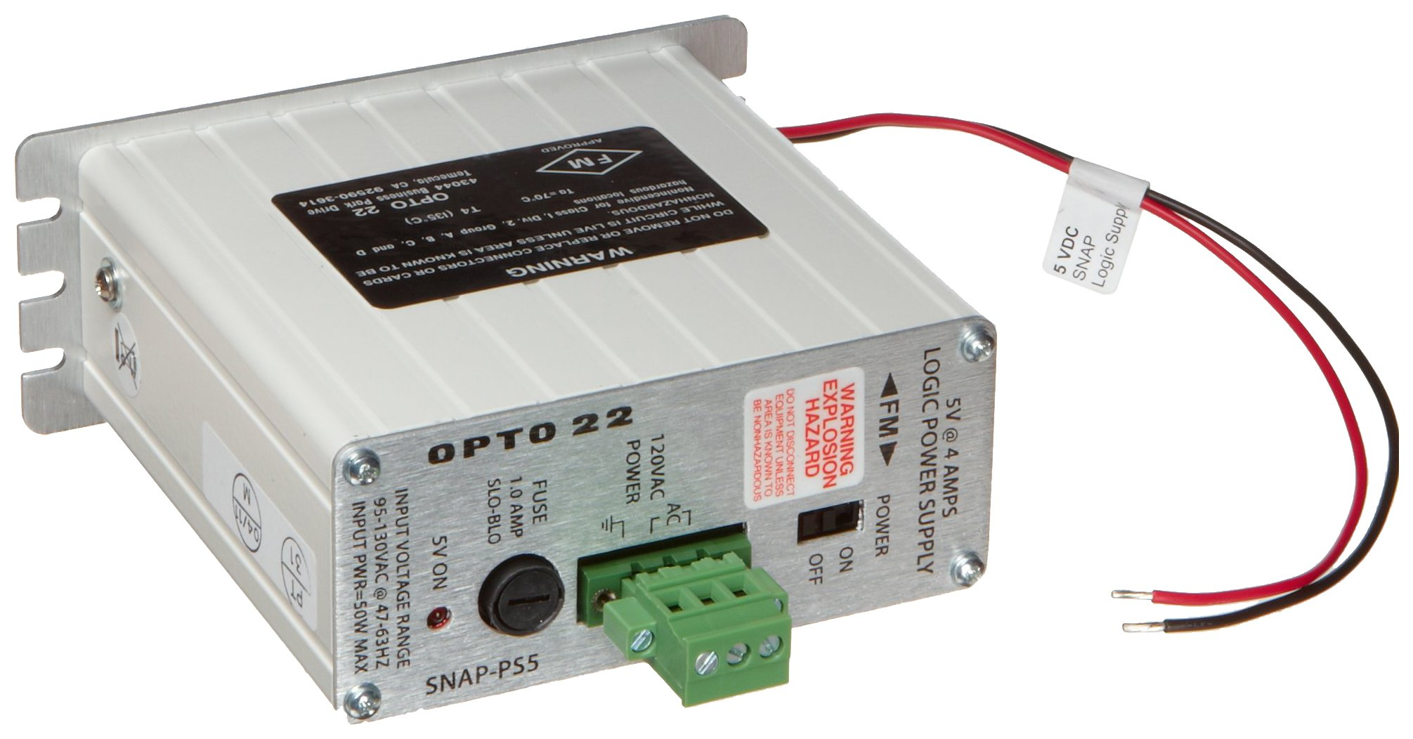 Opto 22 SNAP-PS5 - SNAP Power Supply, 120 VAC Input, 5 VDC, 4 A Output