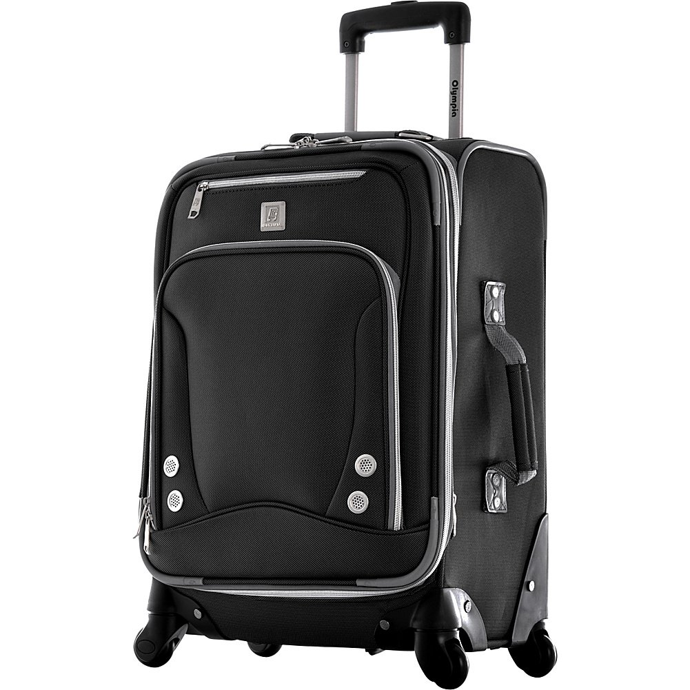 Olympia Luggage Skyhawk 22 Inch Expandable Airline Carry-On,Black,One Size