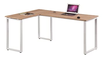 Hjh office 674130 bureau dangle workspace basic chêne clair blanc