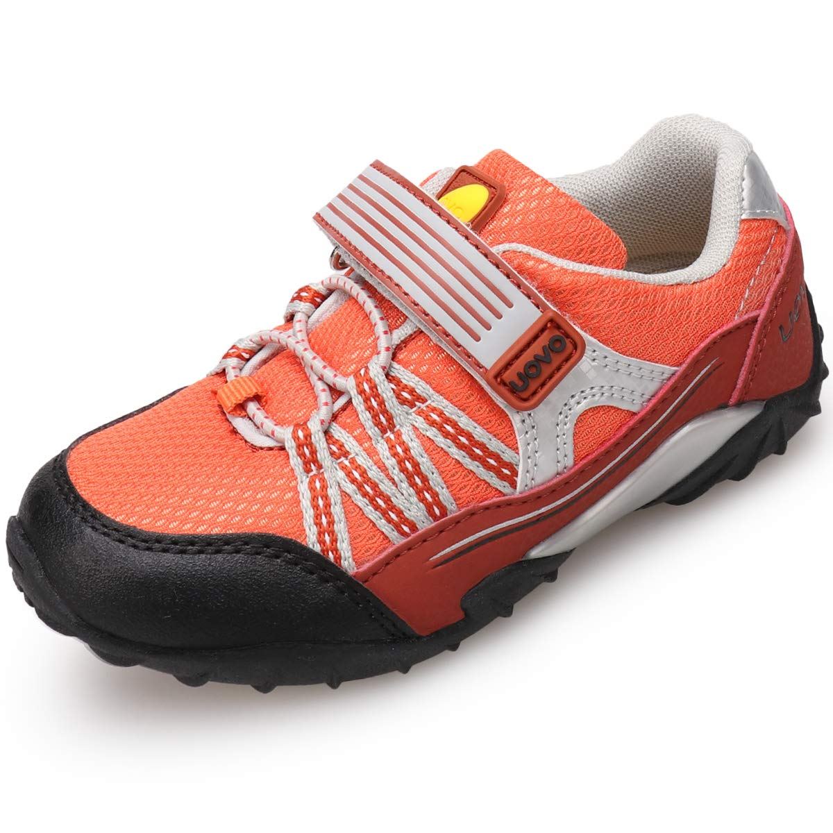 UOVO Boys Running Shoes Hiking Shoes Little Kids Sport Sneakers Athletic Outdoor Tennis Shoes (1 M US Little Kid,Orange)