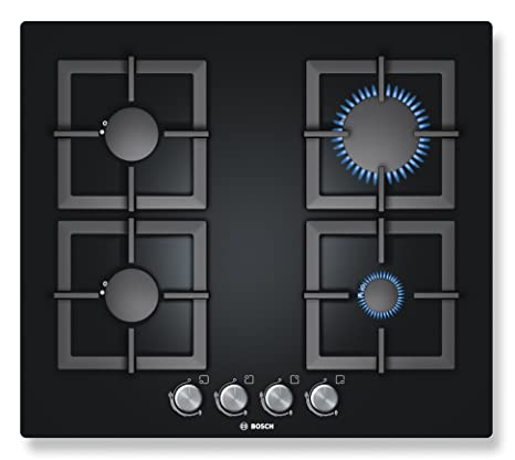 Bosch - Piano cottura a gas vetro temprato PPP616B21E Finitura nero ...