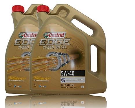 2 envases de 5 litros (total 10 litros) de aceite para motor Castrol EDGE
