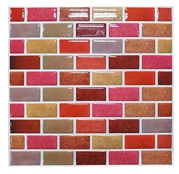tile & sticker, piastrelle adesive da parete, 3d, di alta qualità ... - Piastrelle Adesive Da Muro