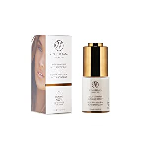 VITA LIBERATA Anti Ageing Face Serum - Self Tanning Anti Age Serum & Organic Face Tan 15 ml