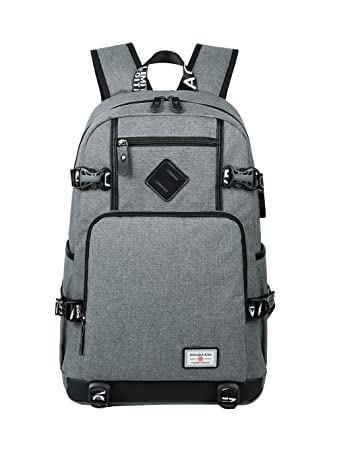 4e6f9285ba0 Amazon.com   AGOWOO Teens High School Backpack Bookbag for Boys with USB  Charging Port   Kids  Backpacks