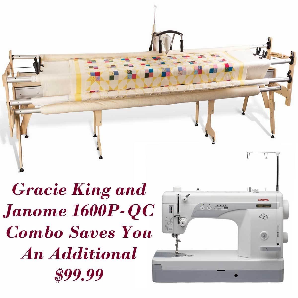 Amazon.com: Janome 1600P-QC and Grace Gracie King Machine Quilter ... : proflex quilting frame - Adamdwight.com