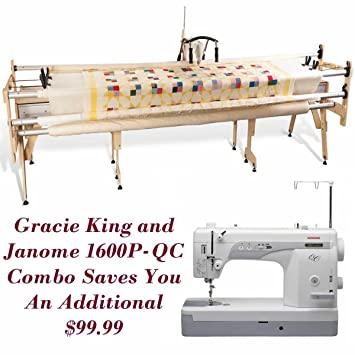 Janome 1600P-QC and Grace Gracie King Machine Quilter Combo ...