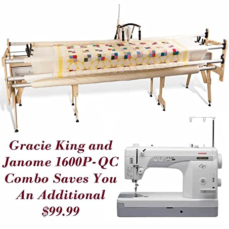 Amazon.com: Janome 1600P-QC and Grace Gracie King Machine Quilter ...