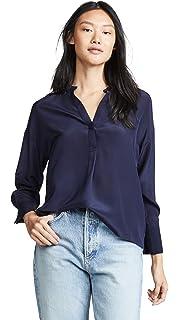 4a7a8d61a644f Amazon.com  Vince Women s Chevron Pleated Blouse  Clothing