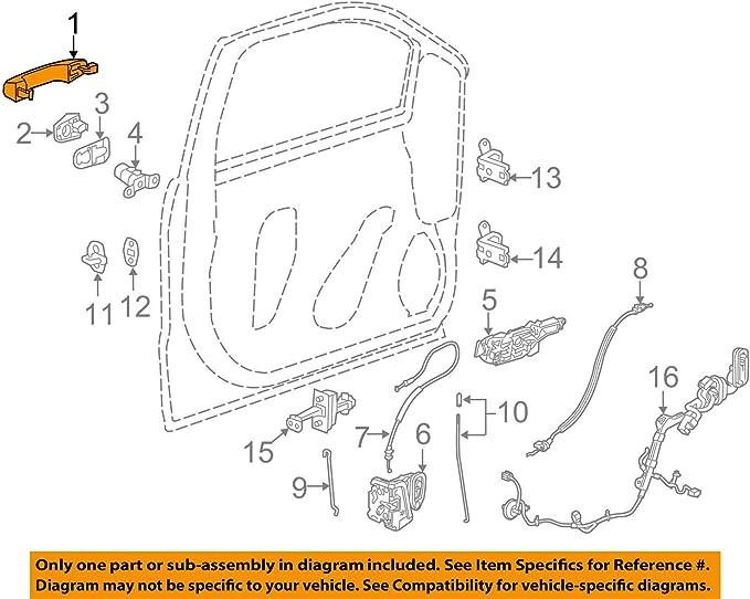 OEM NEW Right or Left Exterior Door Handle Black 14-18 Chevrolet GMC 13583889