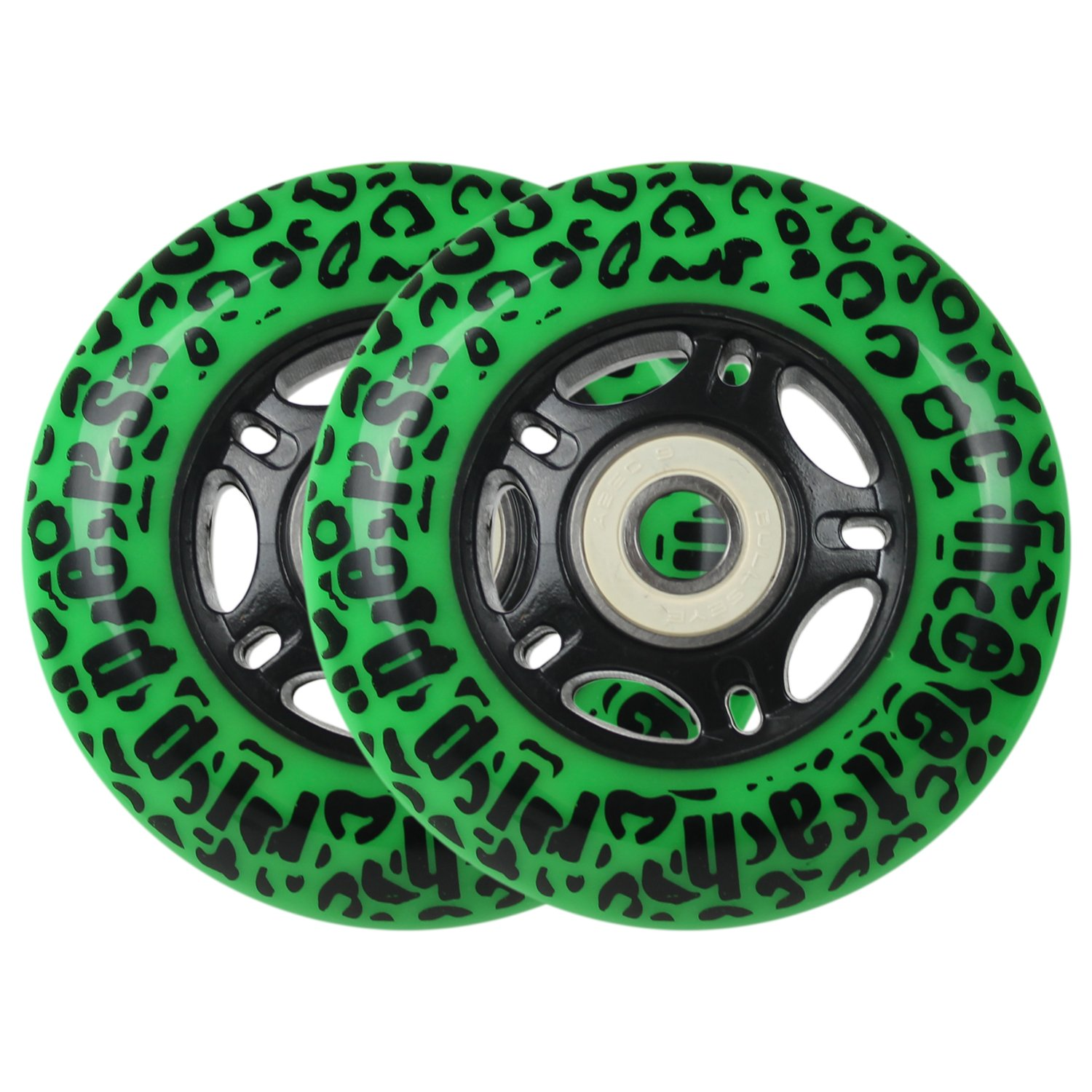 GREEN CHEETAH Wheels for RIPSTICK ripstik wave board ABEC 9 76MM 89A OUTDOOR by Cheetah Rippers