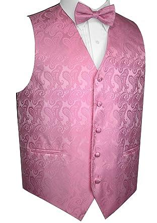 f24bedf89e3d Brand Q Men's Formal, Wedding, Prom, Tuxedo Vest & Bow-Tie Set-Rose ...