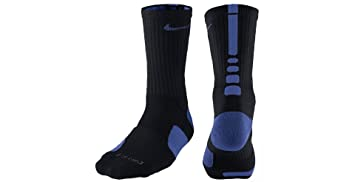 Nike Elite - Calcetines acolchados para hombre, Black (004) / Game Royal/