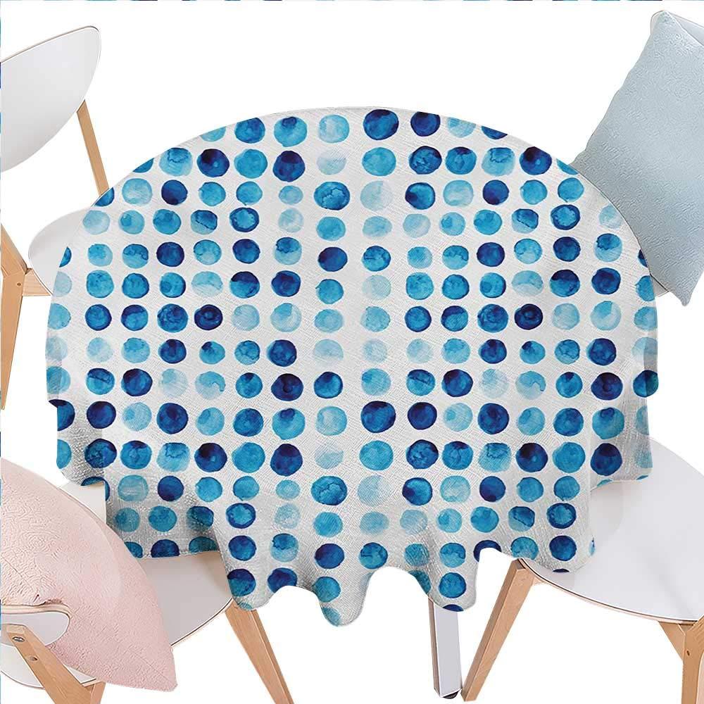 BlountDecor テーブルクロス ブルー 汚れにくい シワになりにくい デジタル 幾何学模様 モザイク パースペクティブ 深さ ピクセルアートワーク グラフィックデザイン 正方形 しわ防止 テーブルクロス 36インチx36インチ ペールブルー ネイビーブルー D50