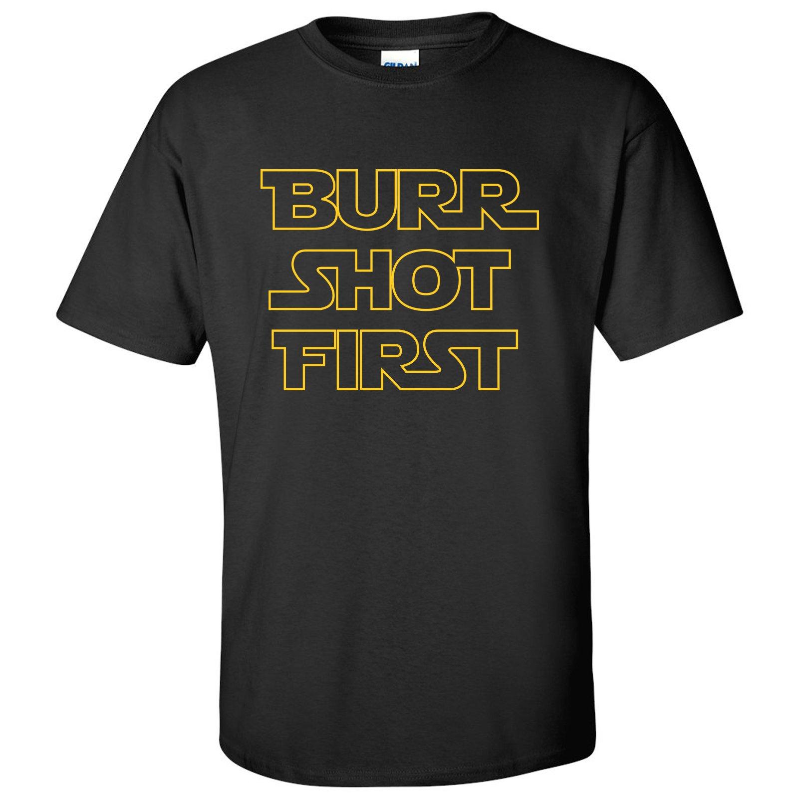Burr Shot First Basic Cotton T-Shirt - X-Large - Black