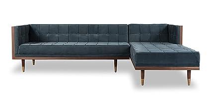 Groovy Amazon Com Kardiel Woodrow Midcentury Modern Box Sofa Ibusinesslaw Wood Chair Design Ideas Ibusinesslaworg
