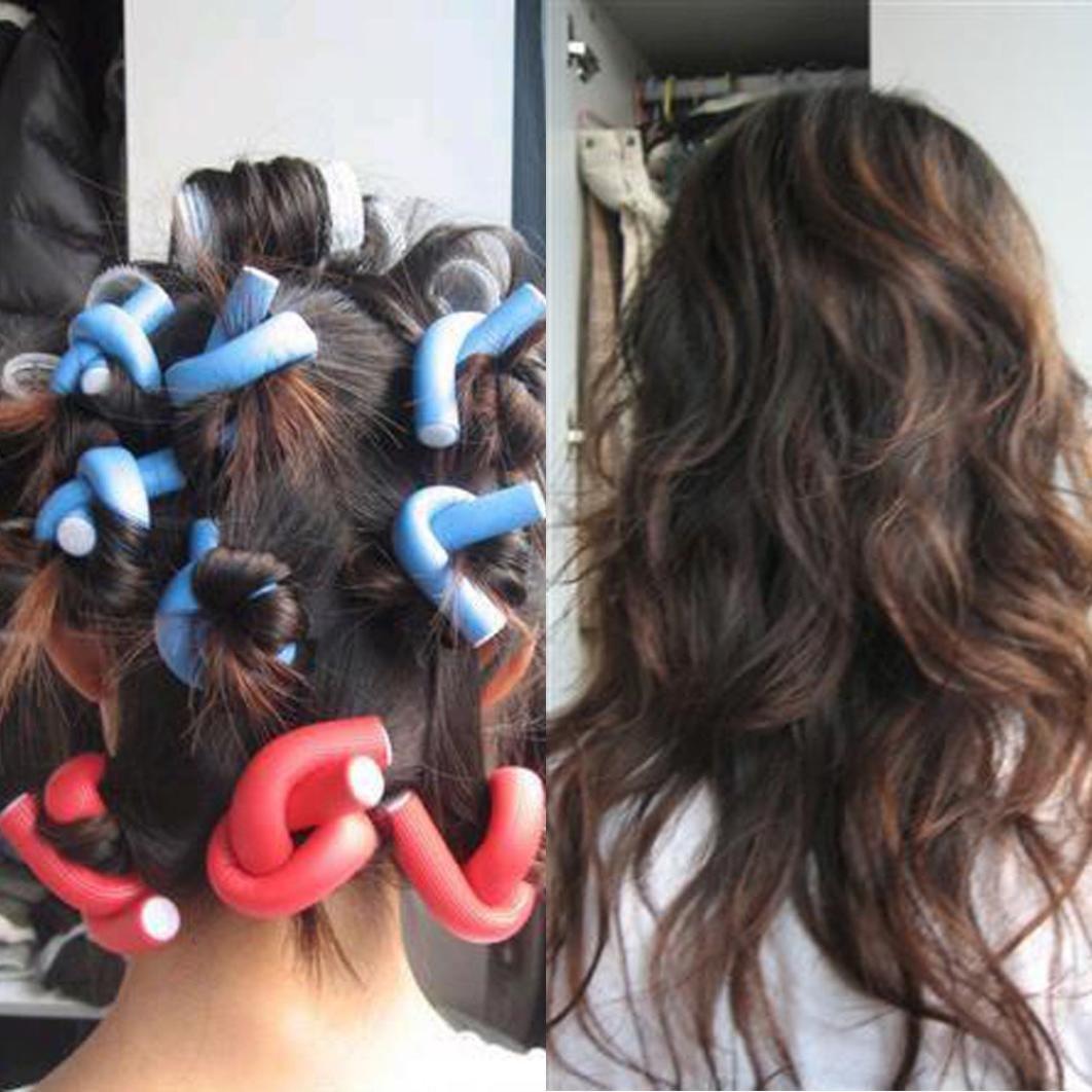 Creazy® 10PCS Curler Makers Soft Foam Bendy Twist Curls DIY Styling Hair Rollers