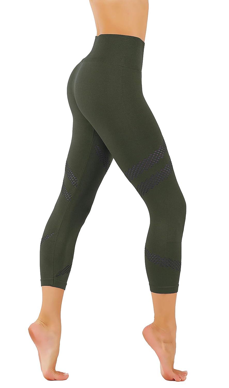 Cf321m.t.blue CodeFit Yoga Pants Power Flex DryFit with CRIS Cross Leg Cutouts 7 8 Length Soled color Leggings Key Pocket