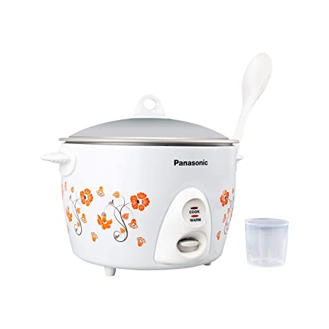 Panasonic SR-G18 Metal Coating Automatic Electric Cooker with Flower Pattern, 1.8 Litre, White Rice & Pasta Cookers at amazon