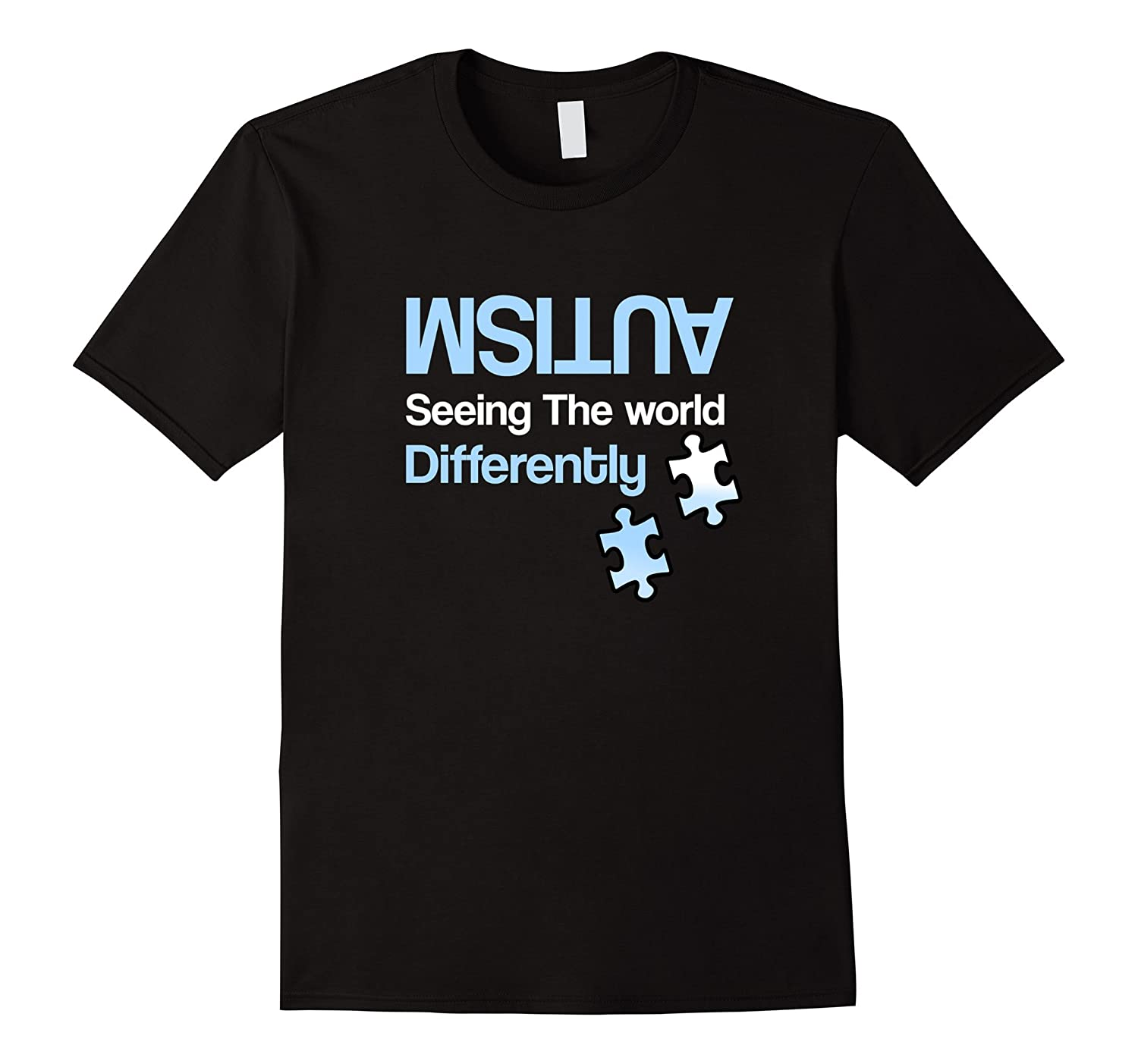 Autism Shirts Seeing The World Differently Awareness Shirt-TH
