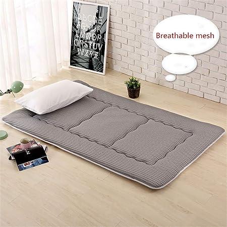 Grigio 90X190 futon Trapuntato salvaspazio Materasso Letto futon Matrimoniale e Singolo Pieghevole e Arrotolabile materassi da Terra 90X190 Alto 5 Centimetri Bed Ground