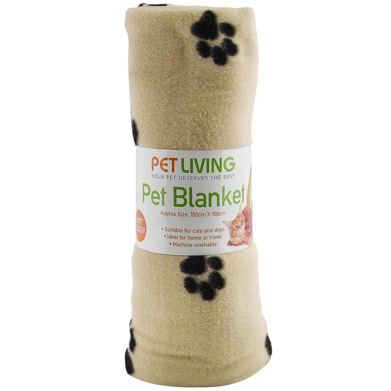 gatos cachorros con impresi/ón de patas y huesos Manta de forro polar para mascotas