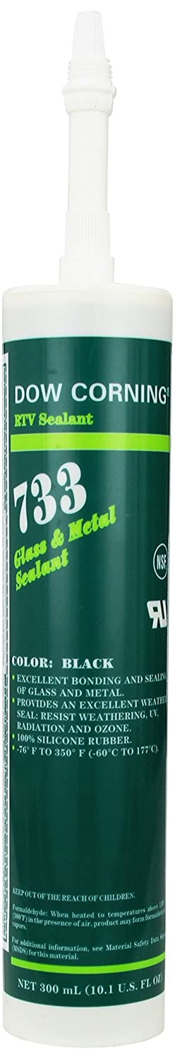 Dow Corning 2468344 733 Black Glass and Metal Sealant, -57 to 177 Degree C, 300 mL