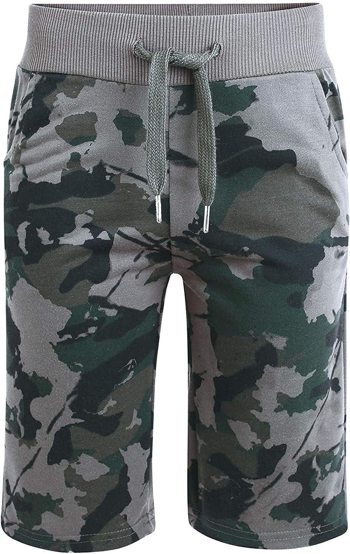 LOTMART Kids Camo Summer Shorts Boys Jersey Bottoms Elasticated Waist Pants