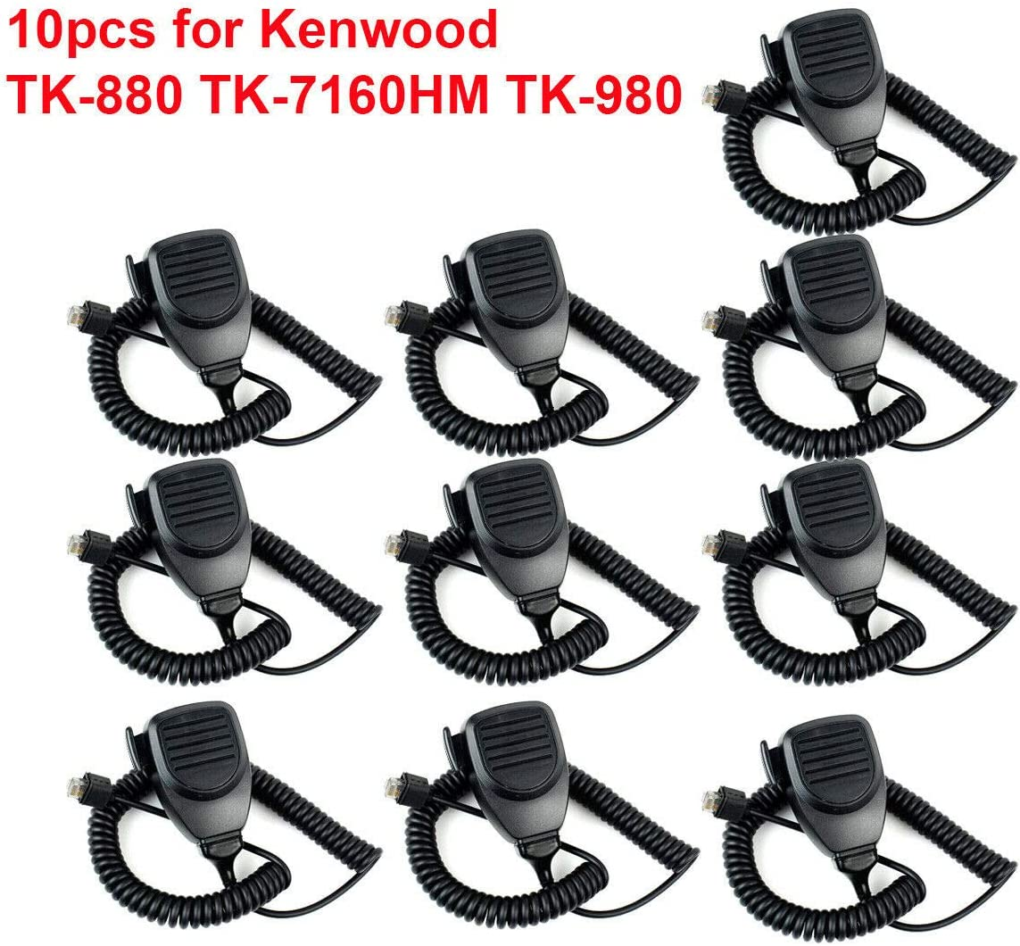 10pcs Mic Microphone 8Pin for Kenwood KMC-30 TK-880//760//768 TK-860 Mobile Radio