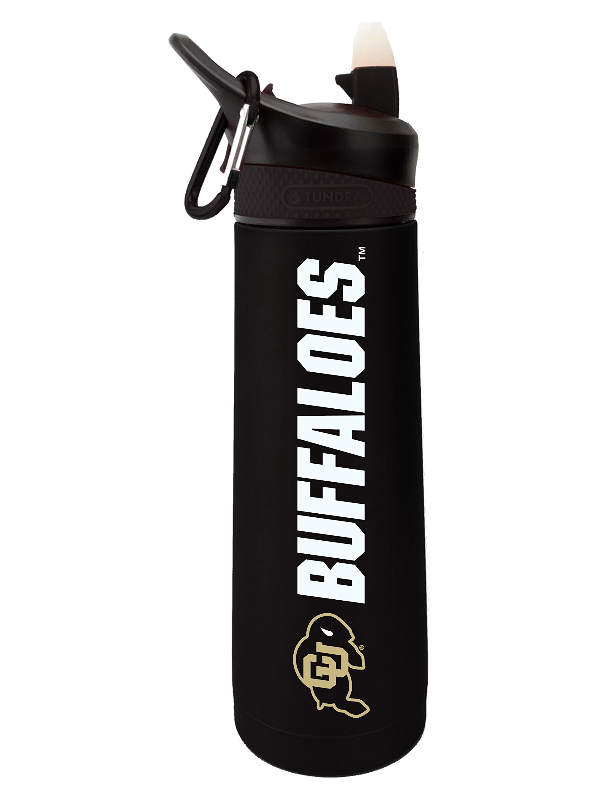 Fanatic Group University of Colorado Dual Walled Stainless Steel Sports Bottle, Design 2 - Black