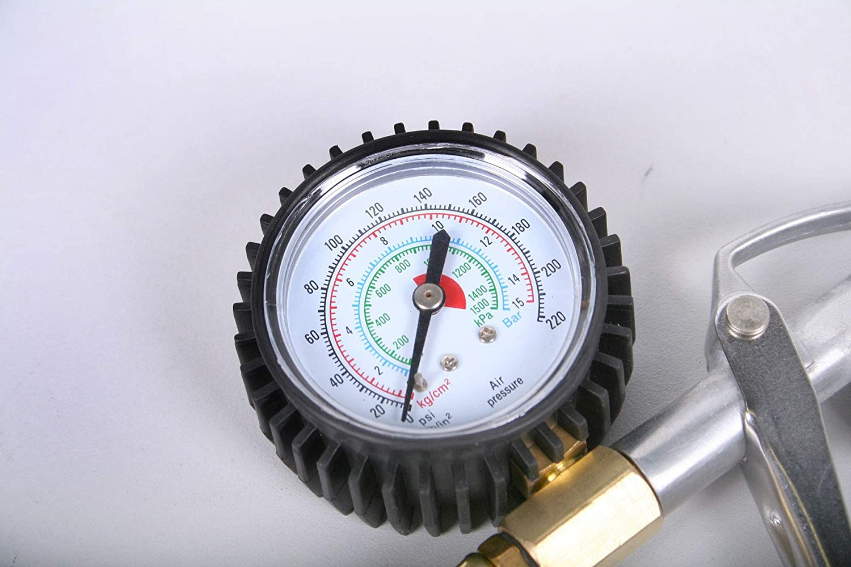 Grodenberg Luftdruckpr/üfer Druckluft Reifenf/üller Profi Reifenf/üllpistole mit Manometer 0-10 BAR