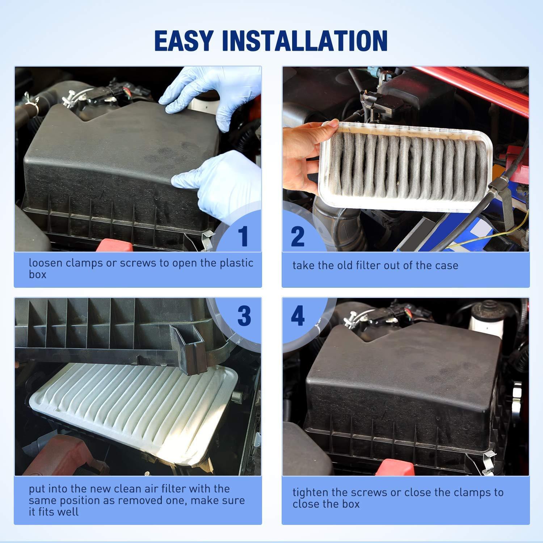 CA9360 Engine Air Filter Fits Camry ES330 Solara RX330 RX350 Sienna Highlander ES300 toyota filter