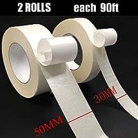 Doppelseitiges Klebeband - Doppelseitiges Klebeband Stark Haftend Extra Stark Doppelseitige Klebebänder Teppichklebeband Doppelseitiges Verlegeband für Teppich Funktioniert auf Alle Boden 30MM und 50MM x 25M 2pcs