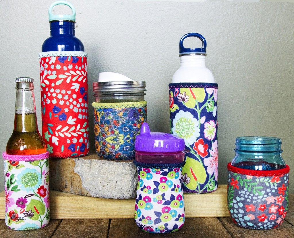 Koverz XL Neoprene 32-40 oz Water Bottle Insulator Cooler Coolie - Midnight Mums